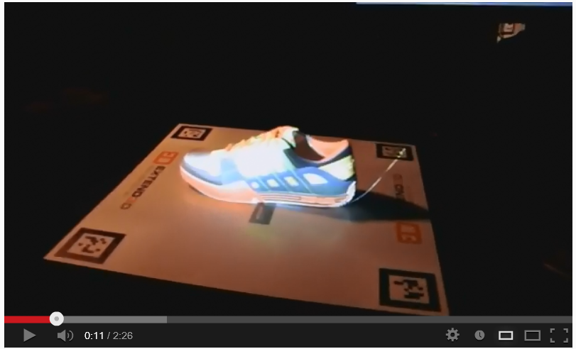 Projection-based Augmented Reality Demo