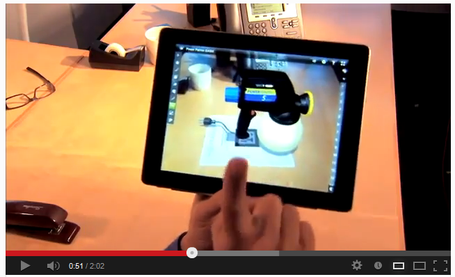SolidXperts SolidWorks eDrawings for iOS with Augmented Reality