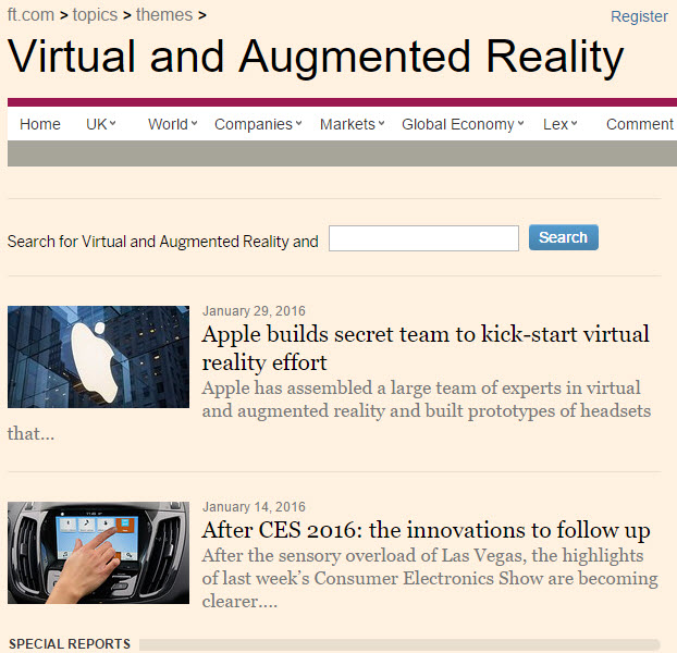 be sure to look for more about Virtual and Augmented Reality